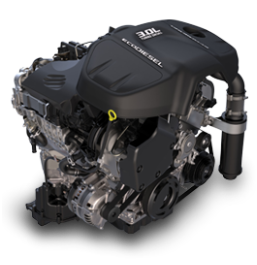 image of the Ecodiesel engine from the RAM truck